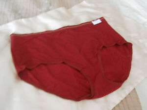 """New with Tags CACIQUE """"No Show"""" Full Brief Panties 26/28 Burgundy"""