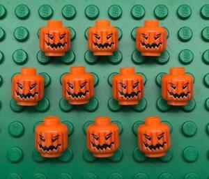 10 Lego Pumpkins: Halloween Jack O' Lantern Head Orange 4738 from harry potter