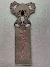 Child's felt  Koala bookmark gift personalised