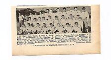 Hawaii of University Rainbow Warriors Honolulu 1928 Football Team Picture