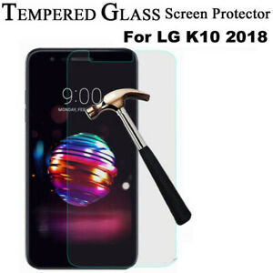 For LG K10 (2018) Real Tempered Glass Film Screen Protector Cover Protection