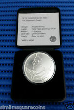 1994 Dutch Mint The Maastricht Treaty Fifty Guilder Sterling Silver Coin