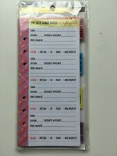 Recollections Creative Year Leisure Pages Planner 40sheets4 Dividers Use Any Yr