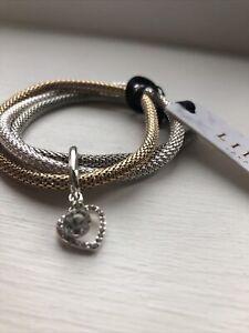 lipsy silver and gold bracelet never worn