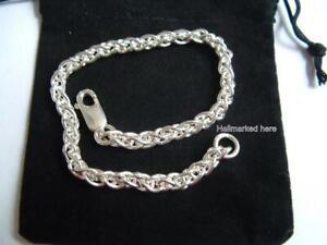 925 Sterling Silver Bracelet 19cm hallmarked 7.5ins in gift bag.