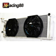 """EMUSA Fit 91-01 Jeep Cherokee 4.0L I6 OHV 3 Core Performance RADIATOR + 10"""" Fans"""