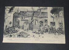 CPA CARTE POSTALE GUERRE 14-18 1915 YPRES COMBAT DE RUE ALLEMANDS ET ANGLAIS
