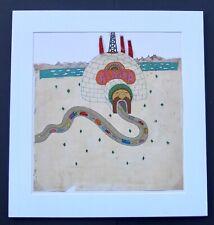 "Seymour Chwast ""Alaska"" Signed Original Illustration Mounted On Art Board"