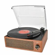 Bluetooth Vintage Vinyl Record Player Belt-Driven 3-Speed Turntable Rca Line Out