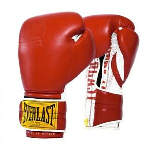 Everlast 1910 Classic Sparring Boxing Gloves Red, New Never Worn, 16oz