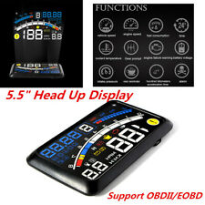 "5.5"" Digital Car HUD Head Up Display OBDII OBD2 EOBD Warning Alarm Speedometer"