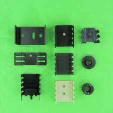 Lot of 9 Aluminum Heat Sink, To-220 and To-5 Transistor Regulator Heatsink New