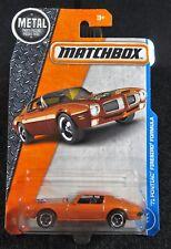 2017 Matchbox  '71 Pontiac Firebird Formula  Card #25    MB-7-100517