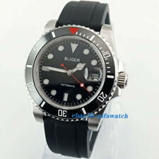 40mm BLIGER Black dial Blue Luminous sapphire crystal automatic mens watch 2887