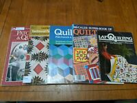 Lot of 5 Vintage Quilting Books Magazines Lap,McCall's, Patchwork,Patterns