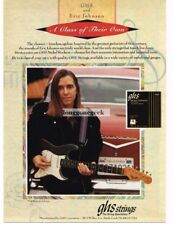 1993 GHS Guitar Strings Eric Johnson Vtg Print Ad