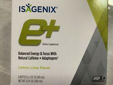 NEW Box Isagenix E+ Energy Shot Lemon Lime 6 Individual Shots Bottles (2 oz ea.)