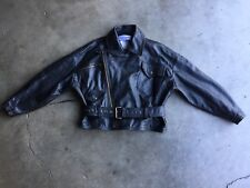 Vintage Dolce & Gabbana Leather Motorcycle Jacket sz Large Black
