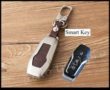 Key Bag Shell Box Fob Case Cover Trim Metal For Ford Mustang Mendeo Fusion F150
