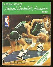 1974-75 The Sporting News NBA Guide book John Havlicek Boston Celtics EX+