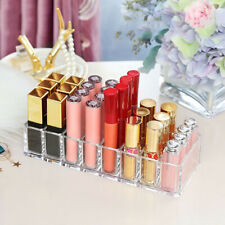 Clear Acrylic Makeup Cosmetic Case Lipstick Liner Brush Holder Organiser Drawer