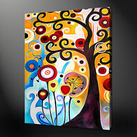 ABSTRACT TREE PAINTING STYLE CANVAS WALL ART PRINT PICTURE READY TO HANG