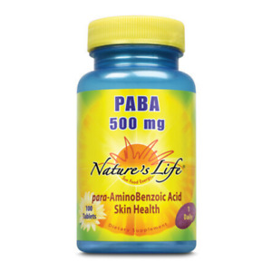 Nature's Life  PABA, 500 mg | 100 ct