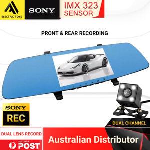 "TOPGEARS Dash Cam Twin Camera Sony CMOS 1080P Recorder Car DVR 170° FHD 5"" LCD"