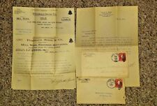 Vintage Letterhead & Envelopes FITZGERALD SPEER LUMBER Pen Argyl PA 1904