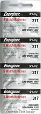 20 pcs 317 Energizer Watch Batteries SR516SW SR516 0% HG