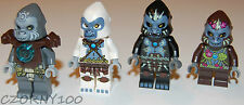 LEGO LEGENDS OF CHIMA GORILLA TRIBE MINIFIGURES LOT OF 4 NEW