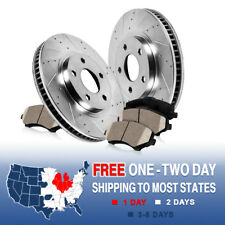 FRONT DRILLED SLOTTED BRAKE ROTORS & CERAMIC PADS Scion TC Toyota Celica GT GTS