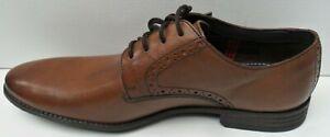 Mens India D Asst Tan Leather Lace up Shoes - Size UK 8 & 8.5