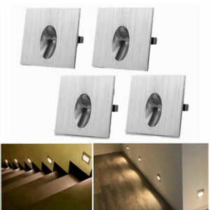 4x 1W LED Recessed Wall Light Walkway Lamp Staircase Lighting Fitting Spot Light