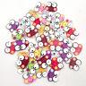 HD_ ALS_ 50Pcs Mini Frog Wooden Buttons Sewing Scrapbooking Cards DIY Art Craft