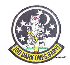 US.Navy F-14 Tomcat `100 DARK ONES` Cloth Badge / Patch (F14-21)