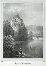 Kriebstein-castillo Kriebstein-Saxonia-litografía 1834