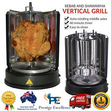 Kebab and Shawarma Grill Vertical Rotating Barbeque BBQ Skewers Stick Rotisserie