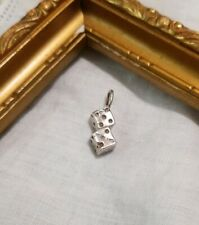 """New listing ! 925 Sterling Silver Dice Charm Pendant 3/4"""""""