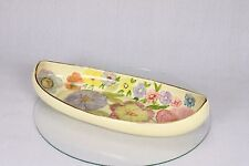 Vintage Canoe Shaped Boat Chintz Hand Painted Royal Winton Grimwades Dish Plate