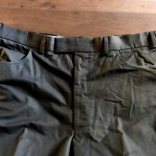 High Quality Unworn Marks & Spencers Dark Olive Cotton & Polyamide Trousers 42""