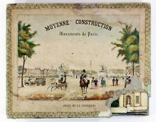 Jeu d'architecture MONUMENTS de PARIS vers 1840 / jeux anciens