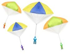 "4Pack Tangle Free Light Up Toy Parachute Man with Large 20"" Parachutes! 4 Colors"