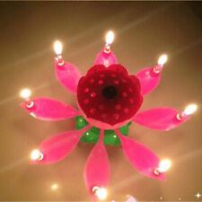 Geburtstagskerze mit Musik Geburtstag Blumen Candle Torten Deko Happy Birthday