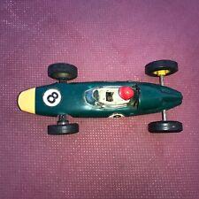 Vintage Scalextric C72 BRM, British Racing Green década de 1960 ranura de coche probado Excelente