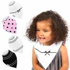 Baby Bandana Drool Bibs for Drooling and Teething, 4 Pack Gift Set For Girls