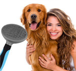 Brush for Dogs & Cats Self-Cleaning Grooming Comb for Detangling & Deshedding