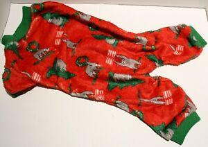 Dog Christmas Holiday Pajamas Jumpsuit Plush Sloth for SMALL BREEDS