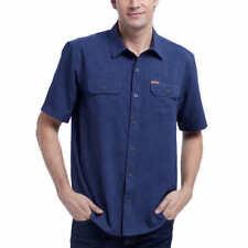 Orvis Men's Short Sleeve Woven Tech Shirt - BLUE Size Medium