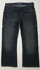 "AFFLICTION BUCKLE BLACK PREMIUM flap pockets jeans tag SZ 32 (34""waist 27""inseam"